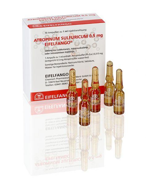 Atropinum sulfuricum 0,5 mg 10 x 1 ml