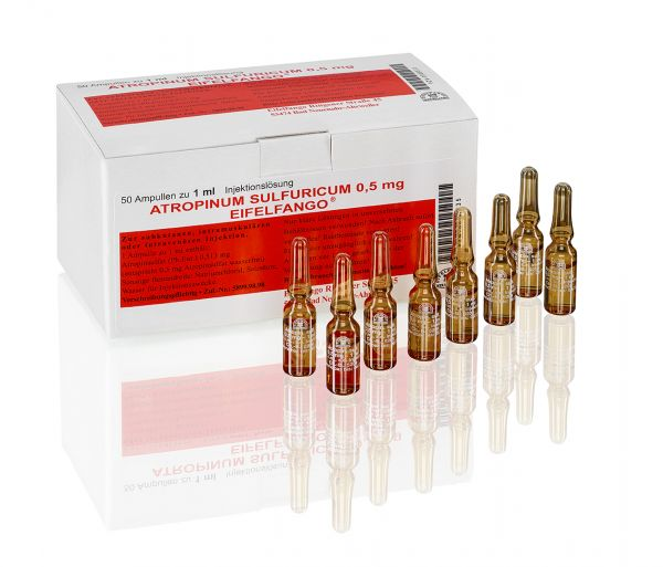 Atropinum sulfuricum 0,5 mg 50 x 1 ml