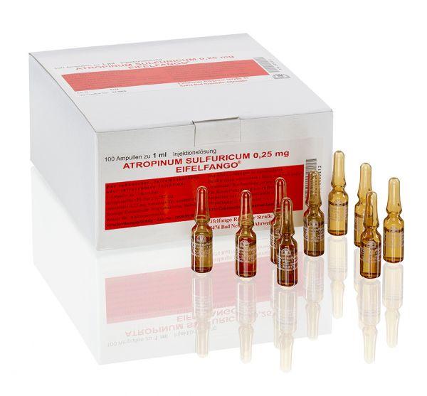 Atropinum sulfuricum 0,25 mg 100 x 1 ml