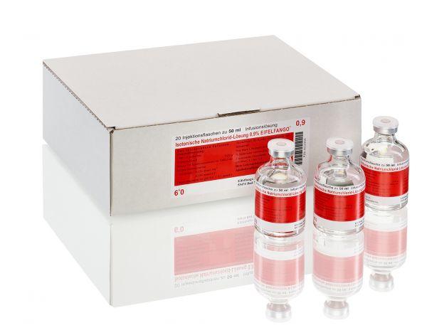 Isotonische Natriumchlorid-Lösung 0,9 % 20 x 50 ml
