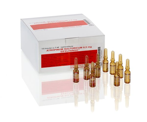 Atropinum sulfuricum 0,5 mg 100 x 1 ml