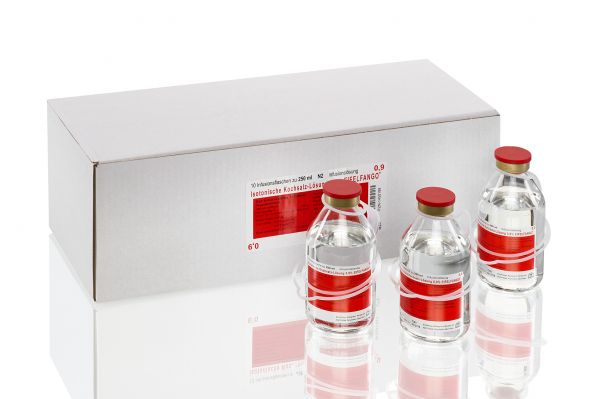 Isotonische Kochsalz-Lösung 0,9 % 10 x 250 ml
